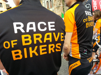 The race of brave bikers